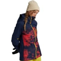 Burton AK Gore-Tex Embark Jacket Hisbiscus Pink Cloud Marble Blue