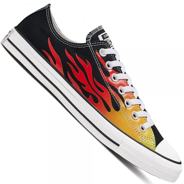 Converse CT All Star Ox Black/Flames