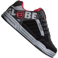 Globe Tilt Herren-Skaterschuhe Black Carbon Red