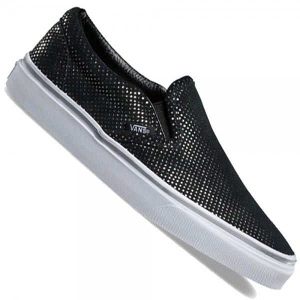 Vans Classic Slip On (Metallic Dots) Sneaker Silver/Black