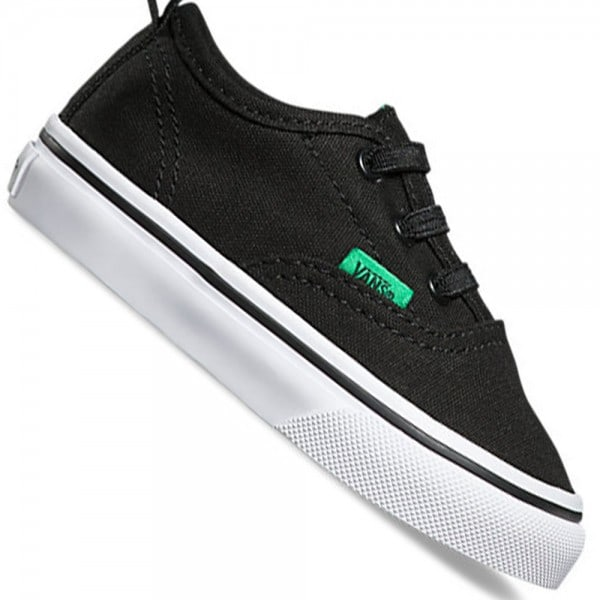 Vans T Authentic V Lace Kleinkind-Sneaker Sport Pop Black/Kelly Green
