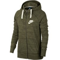 Nike Gym Vintage Hoodie Full-Zip Damen-Sweatjacke Olive Canvas/Sail