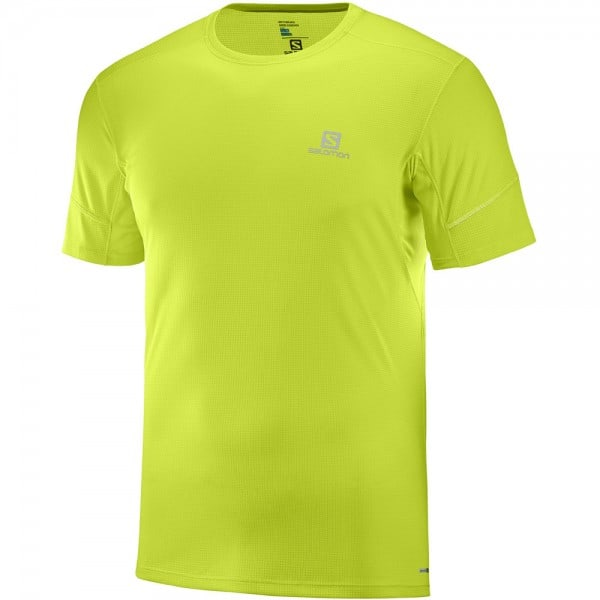 Salomon Agile Short Sleeve Herren-Laufshirt Acid Lime