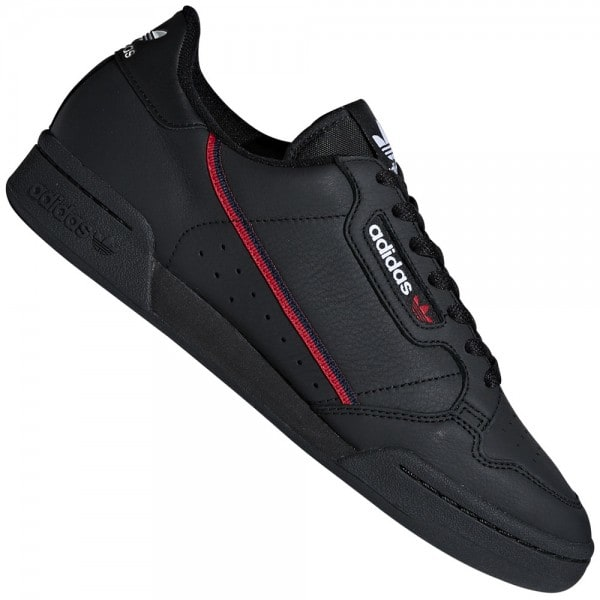 adidas Originals Continental 80 Sneaker Core Black/Scarlet