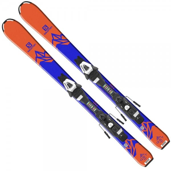 Salomon QST Max Jr S Ski - C5 Bindung Orange/Blue