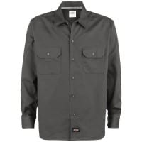 Dickies Long Sleeve Slim Work Shirt Hemd (Charcoal)