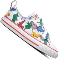 Converse Chuck Taylor All Star 2V OX White Enamel Red