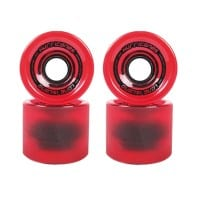 Long Island Hurricanes Cruising Longboard Wheels 80A - Red/Transparent