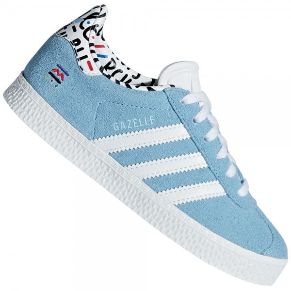 adidas Originals Gazelle C Kinder-Sneaker Clear Blue/White