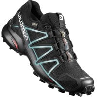 Salomon Speedcross 4 W GTX Damen-Laufschuhe Black/Bubble Blue