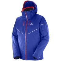 Salomon Stormrace Jacket Herren-Skijacke Surf the Web