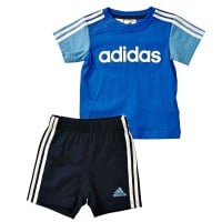 adidas Performance Infant Jogger Linear Summer Set Satellite