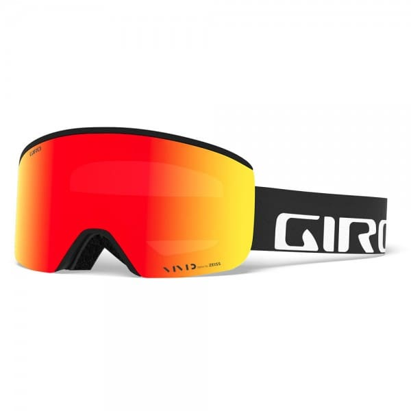 Giro Axis Goggle Black Wordmark Vivid Ember