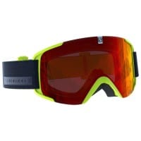 Salomon XView Access Skibrille Acid Lime/Mid Red