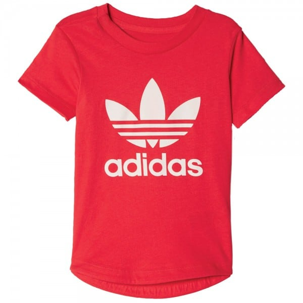 adidas Originals Infant Trefoil I Color Tee Kleinkinder-Shirt Ray Red