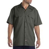 Dickies Short-Sleeve Work Shirt Herren-Hemd Olive Green