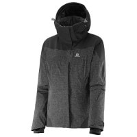 Salomon Icerocket Jacket W Damen-Skijacke Black Heather