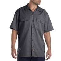 Dickies Short-Sleeve Work Shirt Herren-Hemd Charcoal Grey