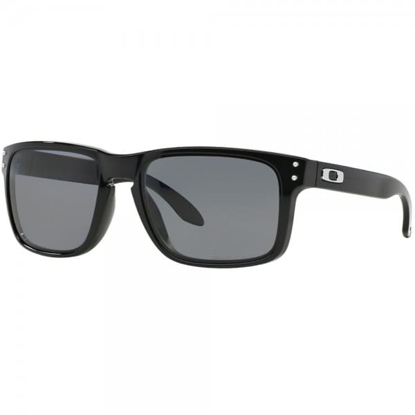 Oakley Holbrook Sonnenbrille Polished Black/Grey Polarized
