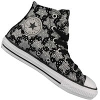 Converse CT HI Animal Print Kinder-Sneaker 649965C Black/Mouse/Silver