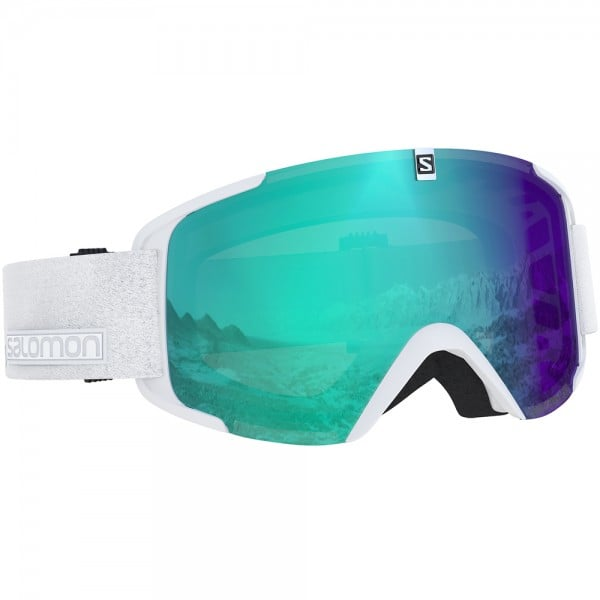 Salomon XView Photo Skibrille White All Weather Blue