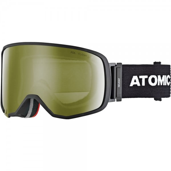Atomic Revent L Skibrille Black/Yellow