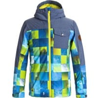 Quiksilver Mission Block Youth Kinder-Snowboardjacke Blue Sulphur