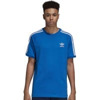 adidas Originals 3 Stripes Tee Herren-Shirt Bluebird