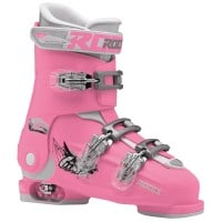 Roces Idea Free Kinder-Skistiefel Deep Pink/White