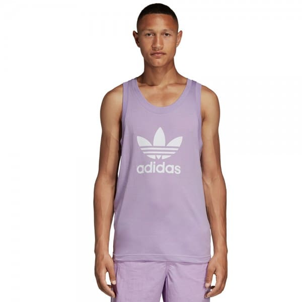 adidas Originals Trefoil Tank Herren-Shirt Purple Glow