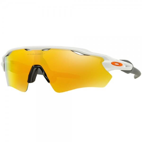 Oakley Radar EV Path Sonnenbrille Polished White/Fire Iridium