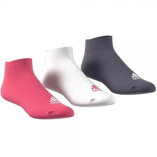 adidas Performance No Show 3 Paar Socken Real Pink/White