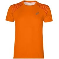 asics fuzeX Tee Herren-Laufshirt Orange Pop