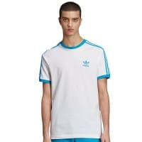 adidas Originals 3-Stripes Tee White Shock Cyan