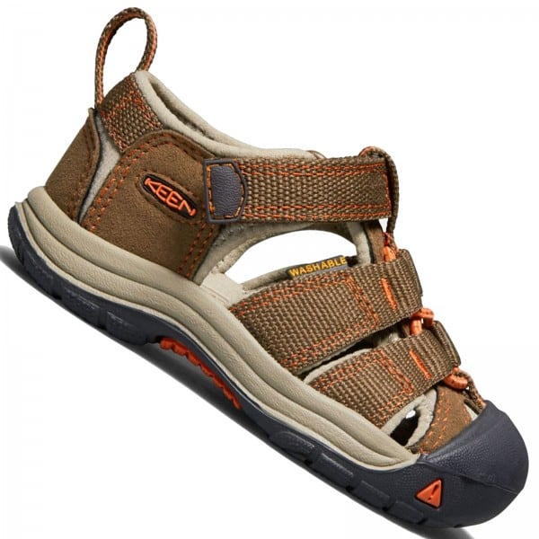 Keen Toddler Newport H2 Kinder-Sandalen Dark Earth/Spicy Orang