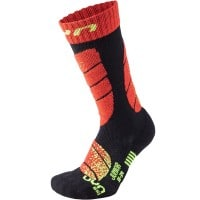 UYN Junior Ski Socks Kinder-Funktionssocken Black/Red