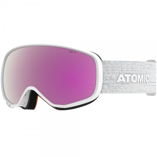 Atomic Count S HD Skibrille White/Pink Copper HD