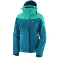 Salomon Icerocket Jacket Damen-Skijacke Deep Lagon Waterfall
