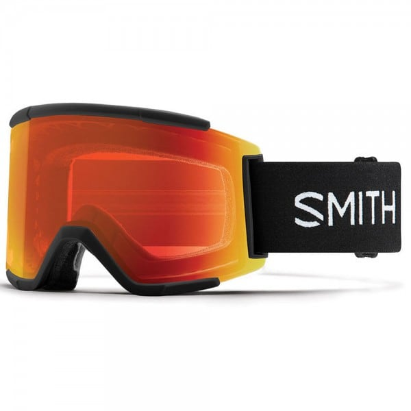 Smith Squad XL Black/Red Mirror/Storm Rose Flash