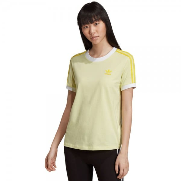 adidas Originals 3 Stripes Tee Ice Yellow